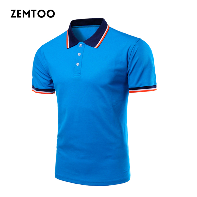 Polo Shirt Men Brand Clothing Summer Short Sleeve Blue Casual Shirts Camisa Polo Slim Fit Baseball Jersey Men Polos Homme ZE0277