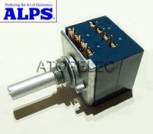 Potenciômetro estéreo registo volume rk27, 2 gang, dual 10k/20k/50, 1 peça k/100k/250k/500k