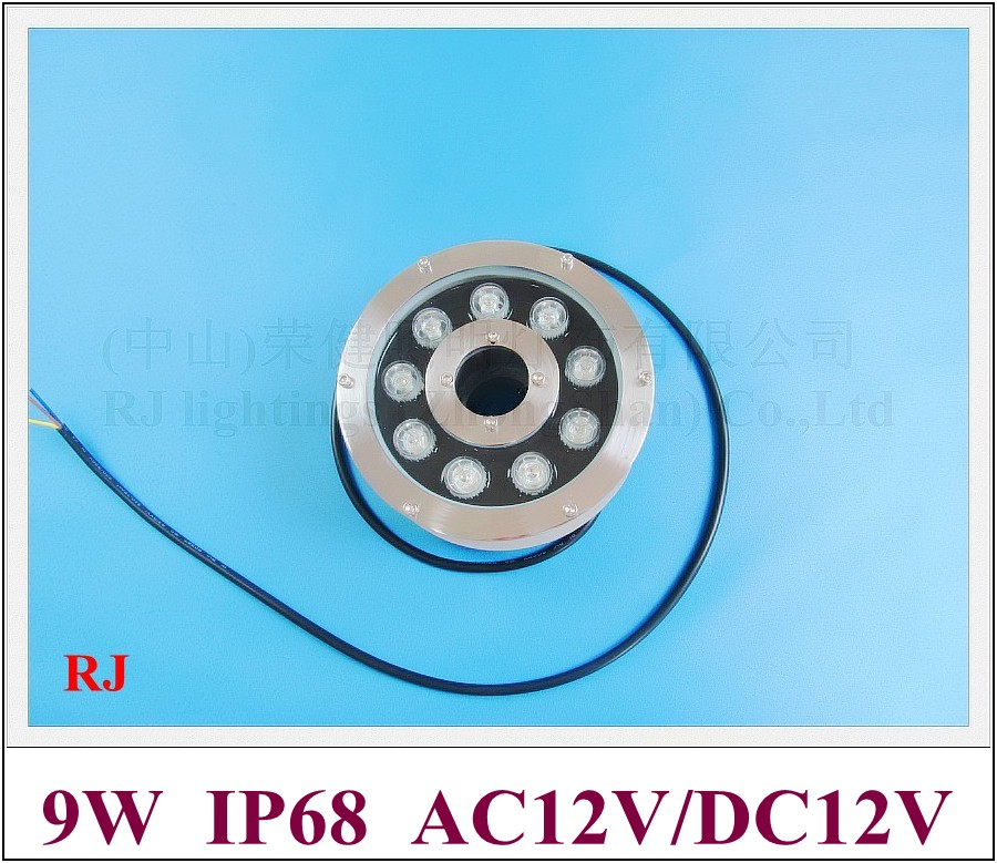 underwater LED 9W high power LED under water light RONGJIAN(RJ) RGB LED swimming pool light fountain lamp AC12V for US and Asia