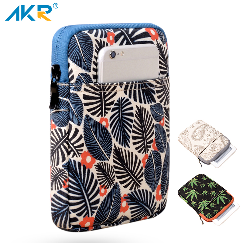 6 inch Tablet Sleeve Case for Kindle Paperwhite Voyage 7th 8th Gen Pocketbook 622 623 e-reader Print Wool Pouch 2017 Summer universal sleeve bag cotton fabric for kindle 499 558 paperwhite voyage case pouch cover for 6 inch ereader 14 18 5 2cm pouch
