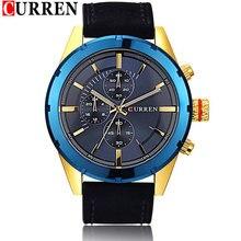 2015 recién llegado de CURREN hombre relojes de cuarzo, movimiento militar impermeable reloj hombres luz de la noche de reloj relogio masculino