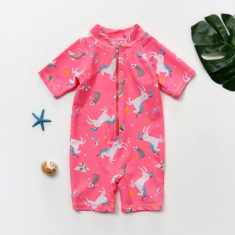 Girls Swimwear Swimsuits Unicorn One-Piece Beachwear-St131 Children 2-To-8years Kids
