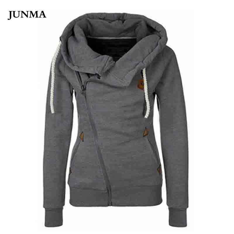 2018 Women Fashion Fleeces Sweatshirts Hooded Candy Colors Solid Sweatshirt Long Sleeve Zip Up Clothing Sudaderas Mujer JM02