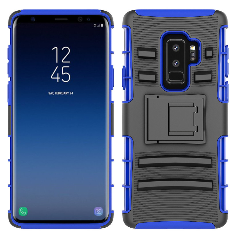 Hybrid Phone Case Kickstand Holster Belt Clip Cover For Samsung Galaxy S9 Plus 6.2Inch 180320 Drop Shipping