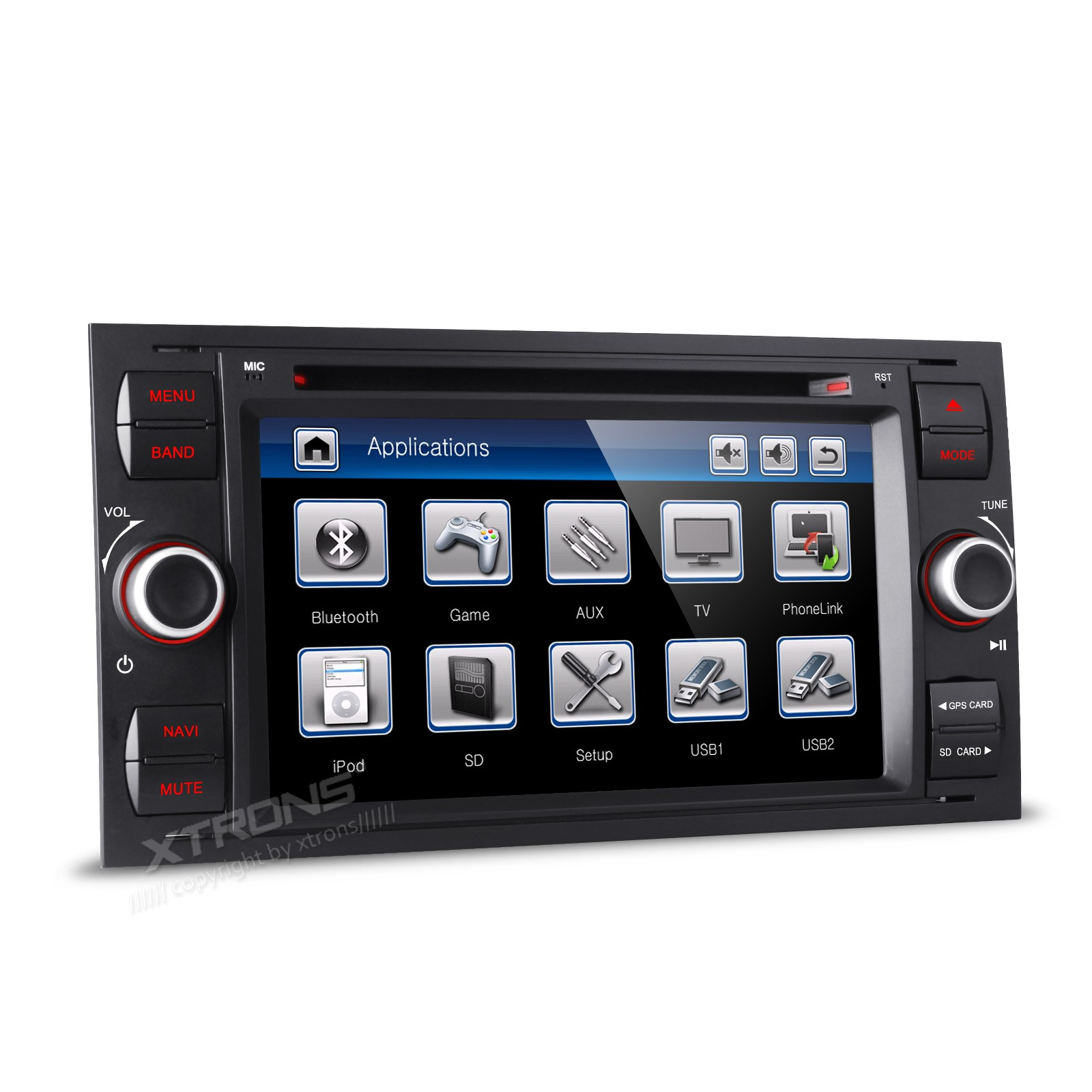 7 black special car dvd for ford focus 2005 2007 fusion 2006