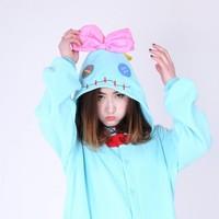 Unisex New Animal Cosplay Costume Winter Warm Adult Cute Lilo Stitch Scrump Pajamas Sleepwear Pyjamas Unisex Onesies Sleepsuit