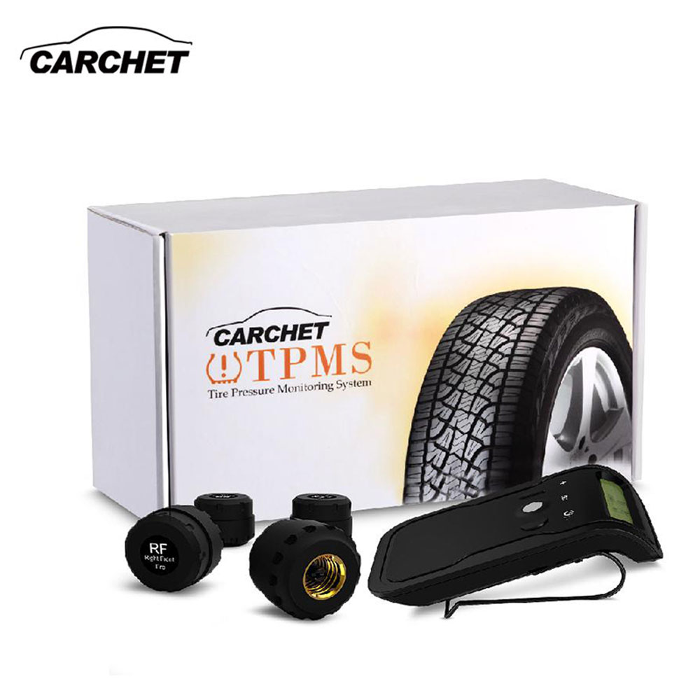CARCHET TPMS Tire Pressure Monitoring System Car-Detector Diagnostic tool Digital 4 Sensors Sun Visor Tires Pressure Auto Alarm hotaudio tpms app car tire pressure monitoring system car tire diagnostic tool support bar and psi