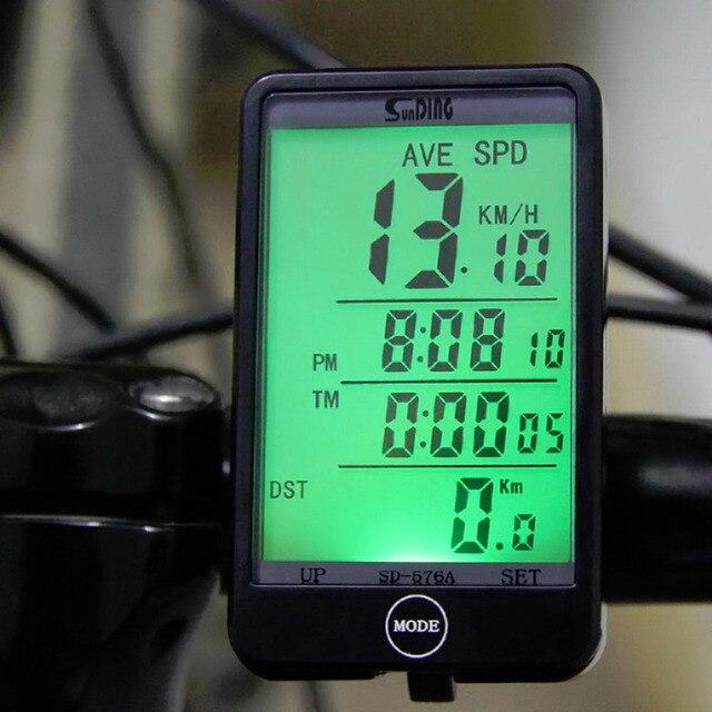 Лидер продаж SD-576A Водонепроницаемый авто велосипед компьютер свет режим touch проводной Велосипедные компьютеры Велоспорт Спидометр с ЖК-дисплей Подсветка