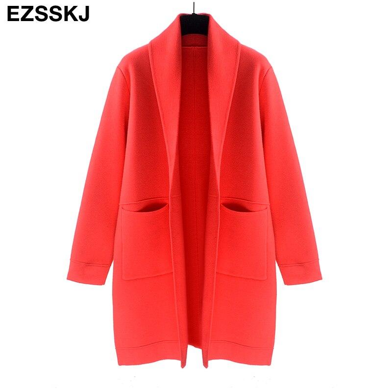 Long Red Sweater Coat | Fashion Women's Coat 2017