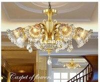 Европейский современный латунные люстры, античная латунь люстра, Винтажные 100% Медь лампа AC110V/220 В 100% гарантия бесплатная доставка