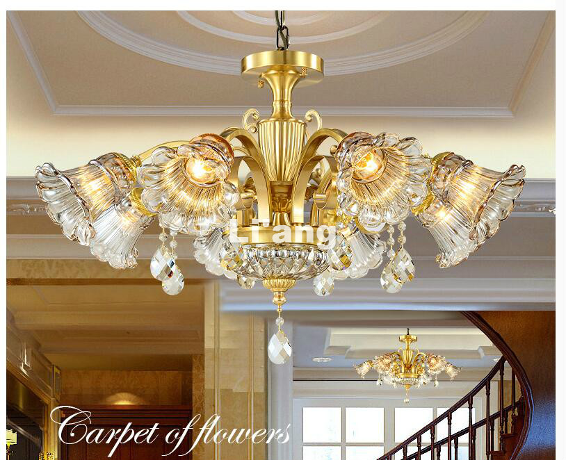 European Modern Brass Chandelier  Antique Brass Chandelier  Vintage 100% Copper Lamp AC110V/220V 100% Guaranteed Free Shipping| | |  - title=