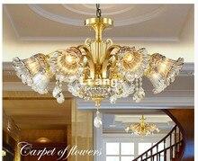 European Modern Brass Chandelier, Antique Brass Chandelier, Vintage 100% Copper Lamp AC110V/220V 100% Guaranteed Free Shipping