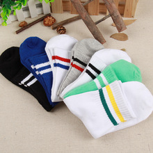 Autumn winter  hot style men stripes funny socks College wind two bar in wholesale funny socks cotton funny socks