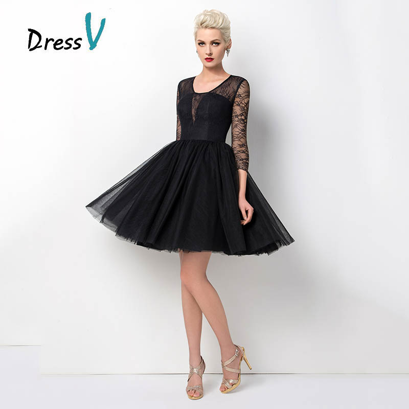 Black Cocktail Dress Short Dress