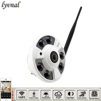 Fisheye Audio Wireless IP Camera Full View Wide Angle 180 Degree 720P 960 1080P SONYIMX323 IP