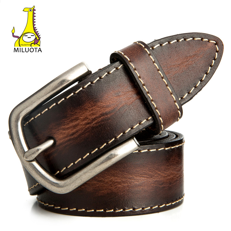 [MILUOTA] leather belt mens