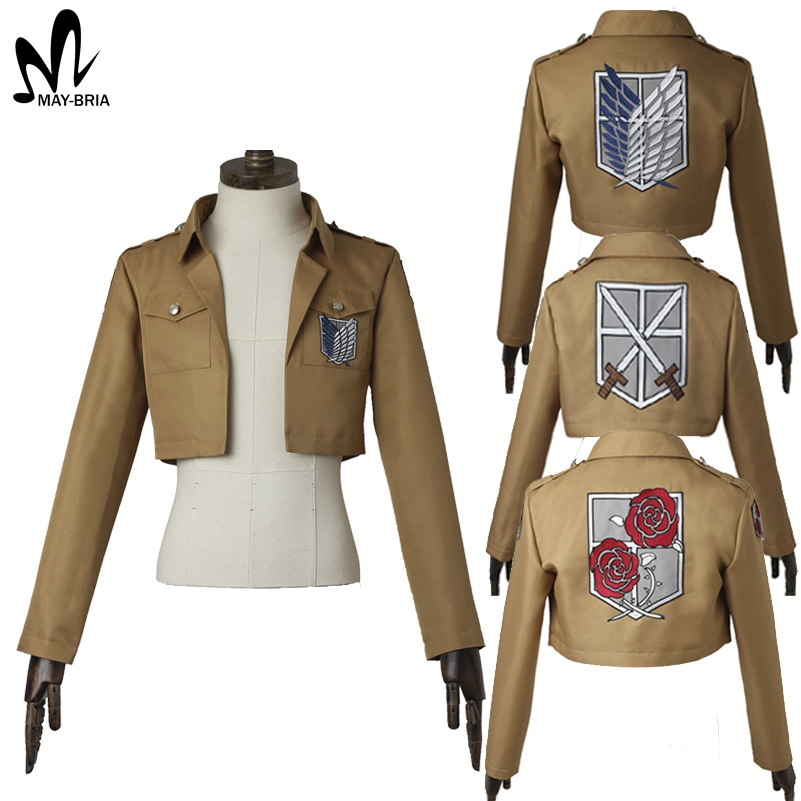 attack on titan jacket halloween costume cosplay shingeki. Black Bedroom Furniture Sets. Home Design Ideas