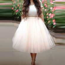 2016 Fashion Mid-Calf Ball Gown Tulle Skirts Best Choice For Women High Quality Custom Made Long Tutu Party Skirts