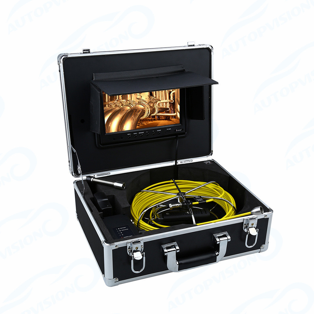 WP90 30m Pipe Sewer Inspection Camera Waterproof IP68 30M Drain Industrial Endoscope Video Inspection System 9Inch