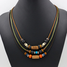 2017 Bohemian Handmade Long Necklace Beads Multi Layer Necklace Women Statement Necklace Boho Beaded Fine Jewelry
