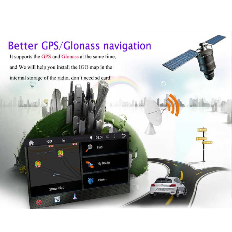 2DIN Android 9.0 Octa Core 64GB ROM untuk Kia Mohave Borrego 2008-2012 Bluetooth 4.2 WIFI GPS GLONASS peta Mobil Dvd Player RDS Radio