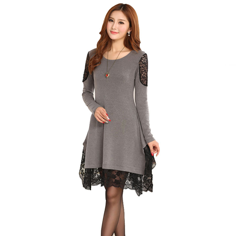 Long Sleeve Lace Pregnancy Dresses Maternity Clothes For Pregnant Women Loose Knitted Clothing