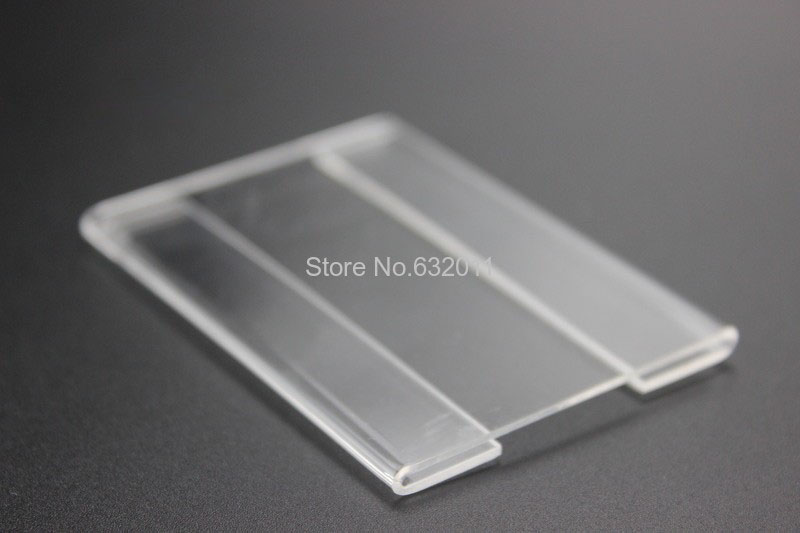Acrylic T1.2mm Plastic Clear Name Card Holder Sign Price Tag Label Frame Wall Mounting Tag Display Promotion Sign Frame 50pcs