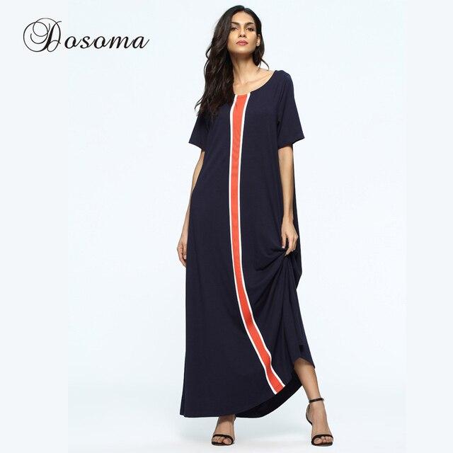 Casual mujeres Maxi vestido largo túnica estilo suelto burka verano ...