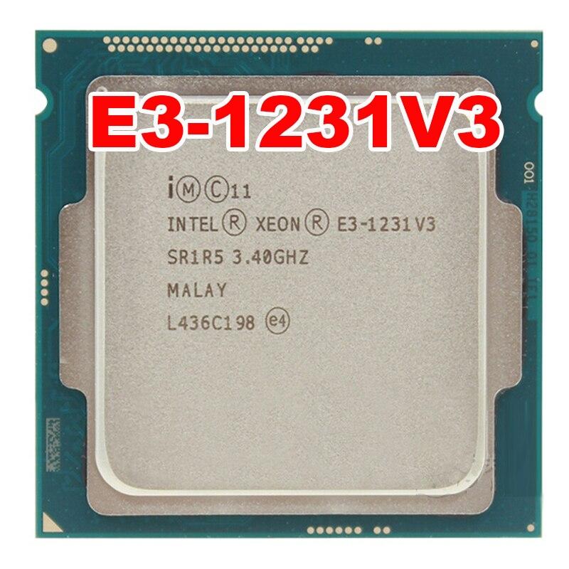 Intel XEON E3-1231V3 1231 V3 3.40 GHz Quad-Core E3 1231V3 8 MB DD R3 DDR3L-1600 LGA 1150 LA DPT 80 W 1 ans de garantie