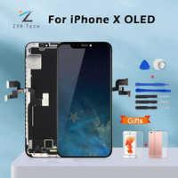 AAA +++ Für iPhone X OLED Mit 3D Touch Digitizer Montage Keine Tote Pixel LCD Bildschirm Ersatz Display Für iPhoneX LCD mit Geschenk