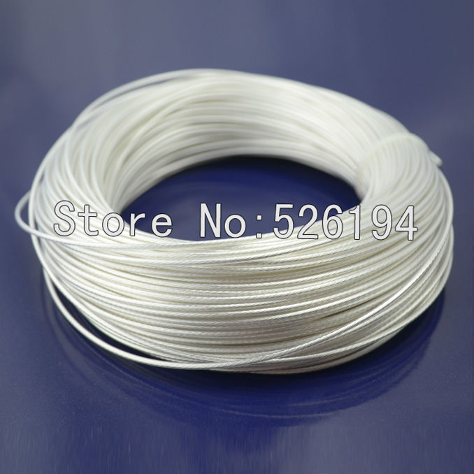 Free shipping 100m Acrolink Silver Plated OCC Signal Teflon Wire Cable 2mm2 Dia 2 4mm For