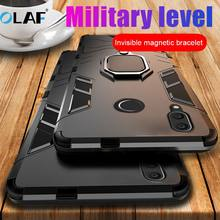 OLAF Shockproof Armor Case For Huawei P20 Lite Pro P10 P Smart Nova 3 3i 3E Honor 8X Note Mate 10 Finger Ring Holder Phone Cover(China)
