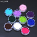 12 Color 3D Glitter Velvet Flocking Powder Nail Art Polish UV Gel Tips Decoration Jewelry Manicure DIY Decals Sticker Tool Set