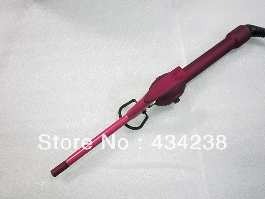 New Styler 9mm Very Small Curling Iron Rose Red Diameter
