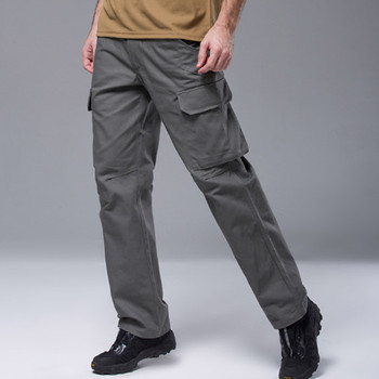 Outdoor Men Training Climbing Quick Dry Pockets Pants Cotton Thick Tactical Military Army Combat Solid Color Cargo Long Trousers