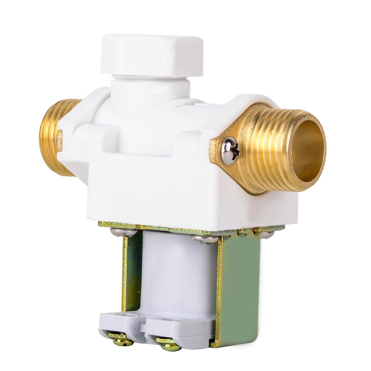 ec167b398fc 1 шт. Micro Электрический электромагнитный Клапан AC 220 В практические  воды Воздух N C нормально закрытый мембранный Клапан для 1 2