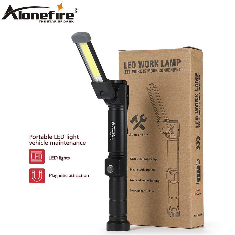 Torch Work Light Magnetic COB LED Rechargeable Flexible Inspection Hand Lamp LOT