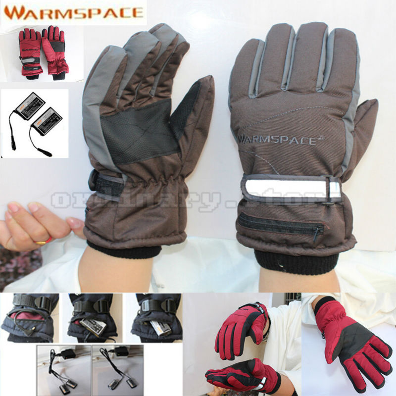 Rechargeable Battery Electric Heated Winter Hands Glove Windproof Gloves For Outdoor Work Ski Cycling Motorcycle Bicycle Warmer