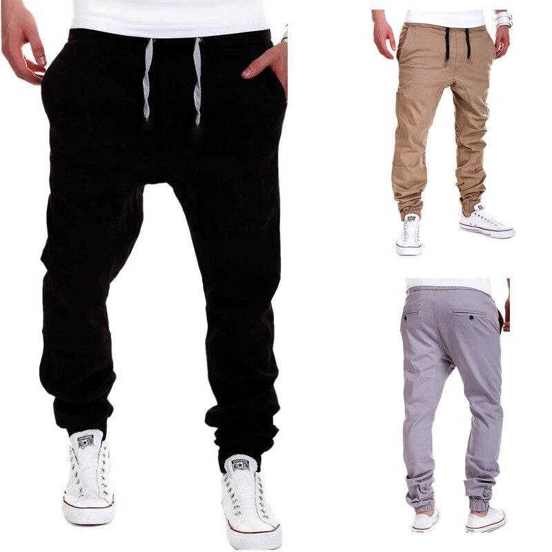 8a96cfdf06 US $13.63 23% OFF|AmberHeard Men's Joggers Pants 2019 Casual Solid Men  Tactical Sweatpants For Men Solid Trousers Pantalones Hombre Plus Size  3XL-in ...