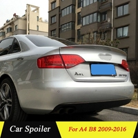 For Audi A4 B8 2009 2010 2011 2012 2013 2014 2015 2016 high quality ABS Plastic Rear Trunk Wing Spoiler
