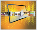 70 inch usb IR multi touch screen overlay kit / IR Touch Frame For TV, display with fast shipping