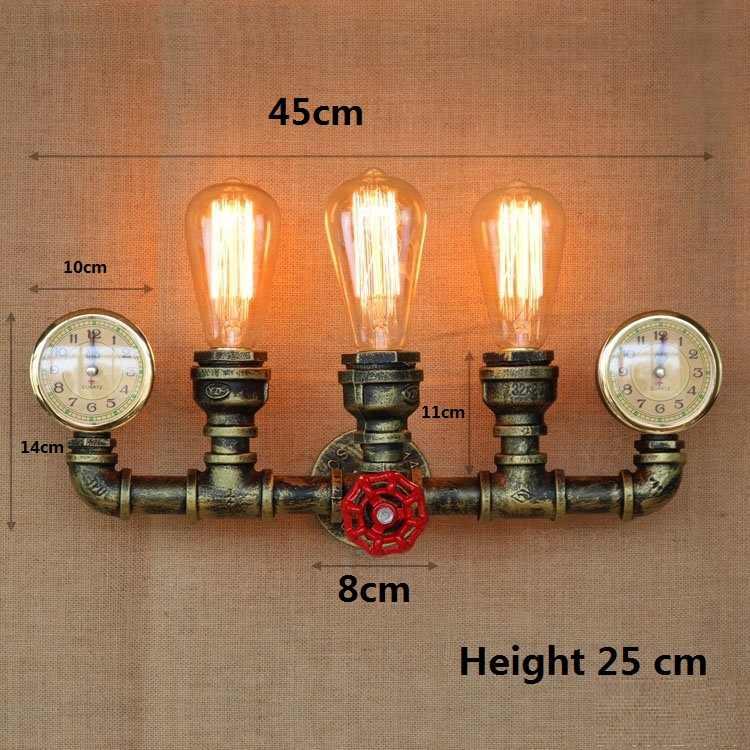Американский Лофт стиль железная водопроводная лампа Эдисона бра RH Ретро Настенные светильники для дома винтажное промышленное освещение