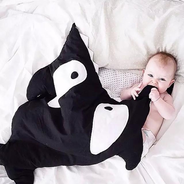 Los recién nacidos Saco de dormir Saco de dormir Del Bebé Del Algodón Niños Para Cochecito de Bebé Invierno Envolvente Manta Niños Tiburón Bebé Dormido