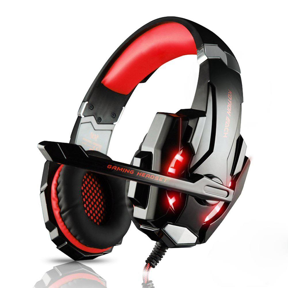 KOTION EACH G900 3.5mm Game Gaming Headphone Headset Earphone With Mic LED Light For PC laptop PlayStation 4 smartphone kotion each g1200 gaming headset 3 5mm game headphone headband gaming headphone with mic stereo bass for pc laptop mobile phones