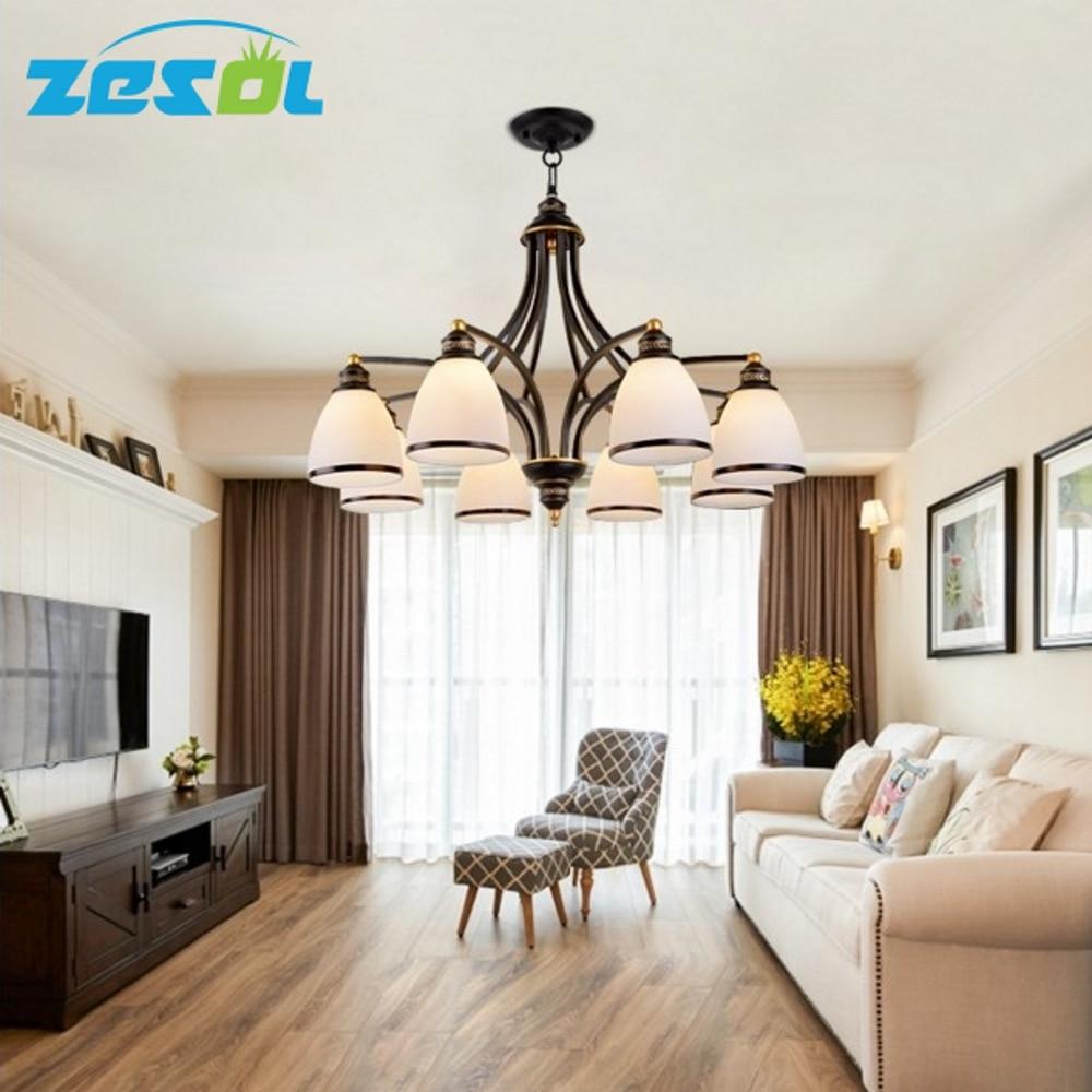 ZESOL Vintage ložnice lampa LED lustrová světla Indoor Lights svatební dekorace