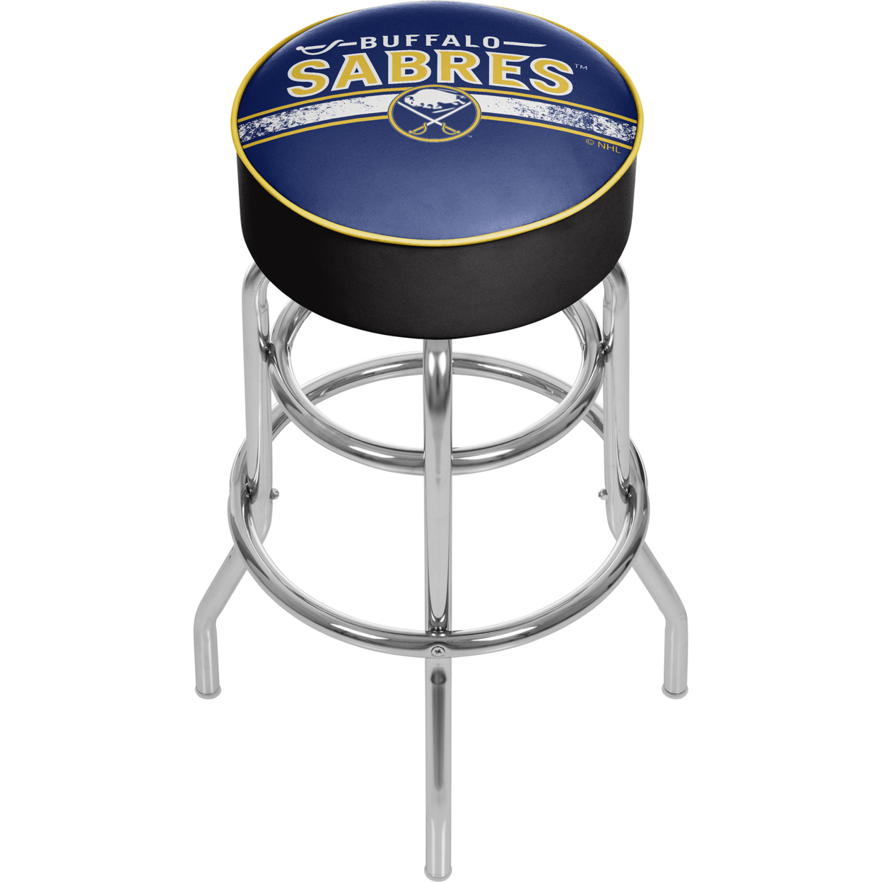NHL Chrome Bar Stool with Swivel - Buffalo Sabres ...