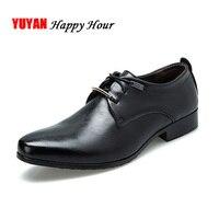 Мягкие кожаные туфли-оксфорды; мужские туфли в деловом стиле мужские брендовые классические Для Мужчин's повседневная обувь чёрный; коричне...