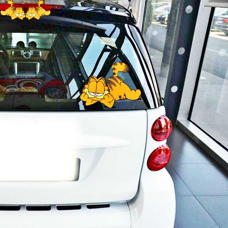Aliauto 2 X décoration de voiture drôle Daze Garfield autocollant de voiture de bande dessinée pour BMW X1 X3 X5 1 série 3 série 5 série 7///série M