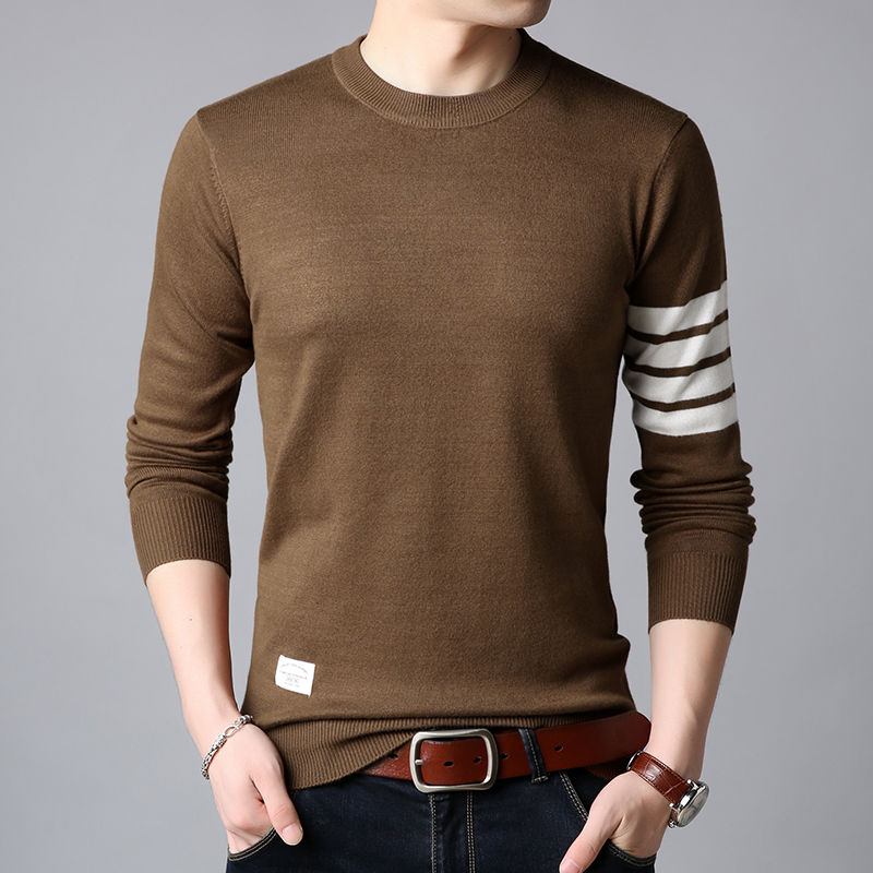 2019 New Fashion Brand Sweaters Men Pullover O-Neck Slim Fit Jumpers Knitwear Thick Warm Winter Korean Style Casual Mens Clothes