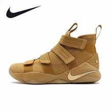 611cac8c NIKE Original novedad zapatillas de baloncesto para hombre LeBron soldado  transpirable calzado súper ligero al aire libre para h.